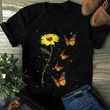 Sunflower Butterfly You Are My Sunshine T-shirt, New Gift