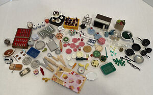 Vintage Kitchen Items Dishes Food Etc Dollhouse Miniature 1:12