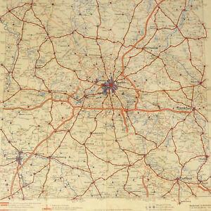 "Berlin Brandenburg Aral Street Map 1939 - Size 16x17"" w/ close up Berlin Potsdam"