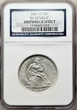 1861-O Seated Liberty Half Dollar Shipwreck SS Republic! CSA W-10 #BDQ0819