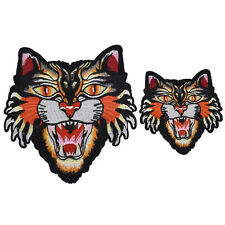 1 Pc Tiger Iron On Sew on Embroidery Patch Applique Badge DIY Clothes Bag DIY