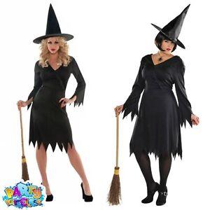 Womens Witch Babe Halloween Books /& Film Fancy Dress Costume