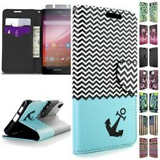 For Sony Xperia Z4v Case - Flip Folio Credit Card & Cash & ID Wallet Pouch Cover