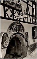 Rüdesheim am Rhein alte Postkarte 1955 gelaufen Drosselhof in der Drosselgasse