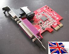 Serial RS232 16c950 + PARALELO PCIe PCI Express Tarjeta