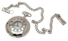 Half hunter Pocket Watch Quartz Pocket Watch Silver Pocket Watch