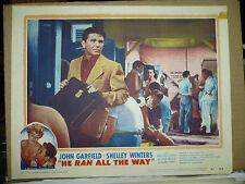 HE RAN ALL THE WAY, orig 1951 LC #2 (John Garfield, Shelley Winters)