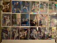 18x Chicago Cubs 2020 Topps Chrome Sapphire Anthony Rizzo Bryant Baez Happ