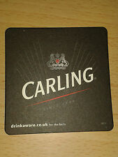 Carling Lager Beer drip mats - Beermats/Coasters