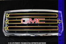 GTG 2015 - 2017 GMC Sierra 2500 4PC Gloss Black Overlay Billet Grille Grill Kit