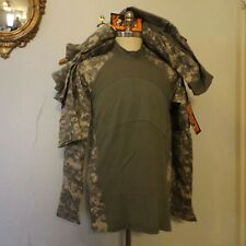 (3) MASSIF Mens Large Army Combat Shirts Camouflage