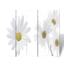 5 Panel Room Divider Folding Privacy Screen Home Office Partition Wooden Flower