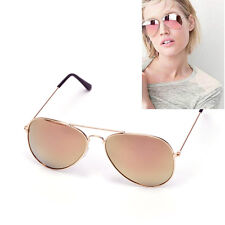 Aviator Frame Polarized Rose Gold Mirror Lens Sunglasses  Hot 100% UVA UVB