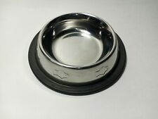 Bergan Maslow Stainless Steel Pet Bowl, Non-Skid/Non-Tip, Embossed, 1-Cup