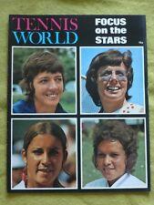 TENNIS WORLD / 1973 / WIMBLEDON FOCUS ON THE STARS