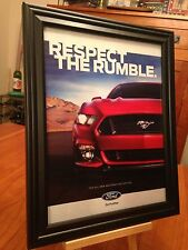"BIG 10x13 FRAMED ORIGINAL 2015 ""THE ALL-NEW FORD MUSTANG"" PROMO AD"