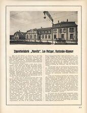 Zigaretten Fabrik Marellis Metzger Karlsruhe Rüppurr 1926 Reklame Werbung