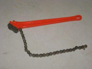 RIDGID NO C-18 / C18 Chain Wrench - Good Working Condition
