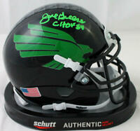 Joe Greene Autographed North Texas Black Eagle Mini Helmet w/CHOF-Beckett W Auth