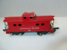 AMERICAN FLYER #638 RED CABOOSE w/link coupler