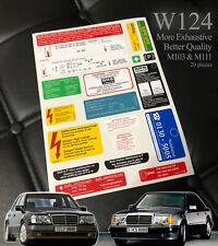 Decal set Sticker set Label set Star Emblem For Mercedes-Benz w124