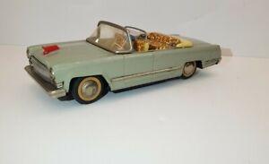 Vintage Hongqi Gray China MF 135 Tin car Friction Red Flag Convertible Limousine