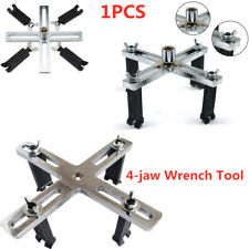 1PCS 4-jaw Car Fuel Pump Lid Tank Cover Remover Spanner Wrench Adjustable Tool
