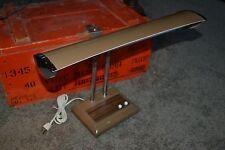 Vintage Cosmo #4002-1 Atomic Age Metal Twin Flex Goose Neck Industrial Desk Lamp