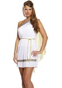 Sexy Ladies Roman Woman Toga Greek Goddess Costume Fancy Dress Outfit 8/10/12