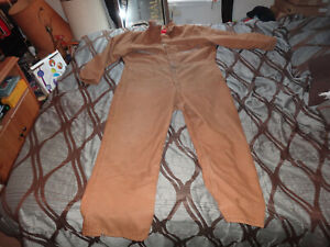 WRANGLER BLUE BELL COVERALL OVERALL BROWN/TAN LIGHTLY WORN X-LARGE REGULAR 46-48
