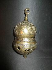 ancienne lampe porte bougie de mosquée  en laiton moyen orient XIX ème