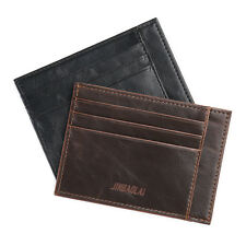 New Men's Leather Magic Money Clip Slim Wallet ID Credit Card Holder Case·Purse