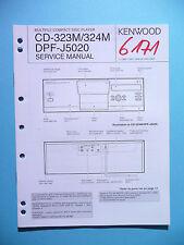 Service Manual-Istruzioni per KENWOOD cd-323m/cd-324m/dpf-j5020, ORIGINALE