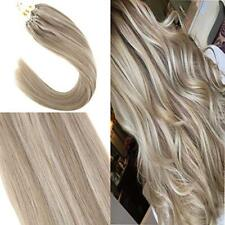 VeSunny Micro Loop Remy Human Hair Extensions 50g Micro Ring Dark Ash mix Blonde