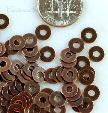 Micro Washers, Embellishments, Copper Plate, 6.35mm, TierraCast, 100 Piece, 7018