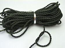 10 Meters Black Twist Cord String Twine Rope Bracelet Jewelry Synthetic Silk