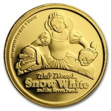 2017 Snow White and the Seven Dwarfs 80th Anniversary 1/4oz Gold Coin