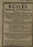 SCOT'S DISCOVERY OF WITCHCRAFT 1651 EDITION MAGIC, CONJURING & WITCHCRAFT ON DVD