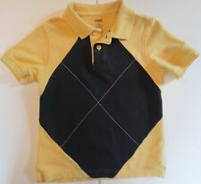 Gymboree Boys Size 5 Short Sleeve Yellow Polo Shirt
