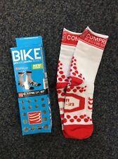 Compressport 3dot Bike Sock, White Red, Size T2