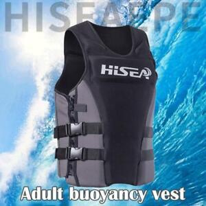 Adult Life Jacket Safety Neoprene Surfing Diving Survival Vests Swimming D4U4