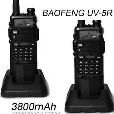 2 x BaoFeng UV-5R Talkie Walkies UHF/VHF 2-Way Radio Amateur 3800mAh Battery FR