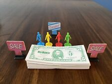 1996 Mall Madness Game Replacement Lot of 4 People Pieces Money and Signs