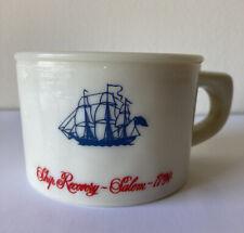 """Vintage Old Spice Almond Milk Glass 2 1/4""""T Shaving Mug Ship Recovery Salem 1794"""