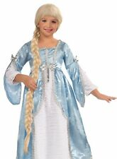 Princess of the Tower Rapunzel Costume WIG Girls Child Kids Long Braid Blonde