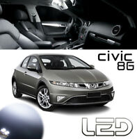 Honda CIVIC 8G Kit 4 Ampoules LED Blanc éclairage Habitacle plafonnier Coffre