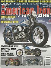 American Iron motorcycle magazine Knuckle bobber Harley Davidson Blackline