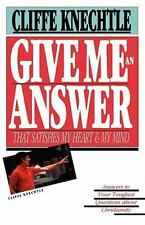 Give Me an Answer, Cliffe Knechtle, 0877845697, Book, Acceptable