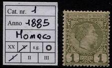 Monaco - 1885 - Effige di Carlo III - cent.1 - Unificato n.1- nuovo - MH