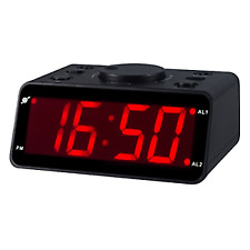 KWANWA Battery Operated Only LED Electronic Alarm Clock with Clear No Box